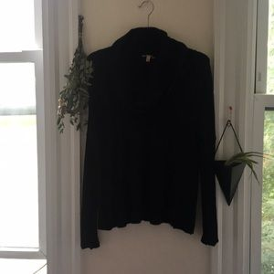 Bordeaux Cowel Neck Ribbed Sweater
